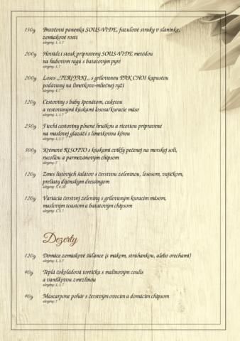 Dufart - jedálny lístok 2018 - 3/6